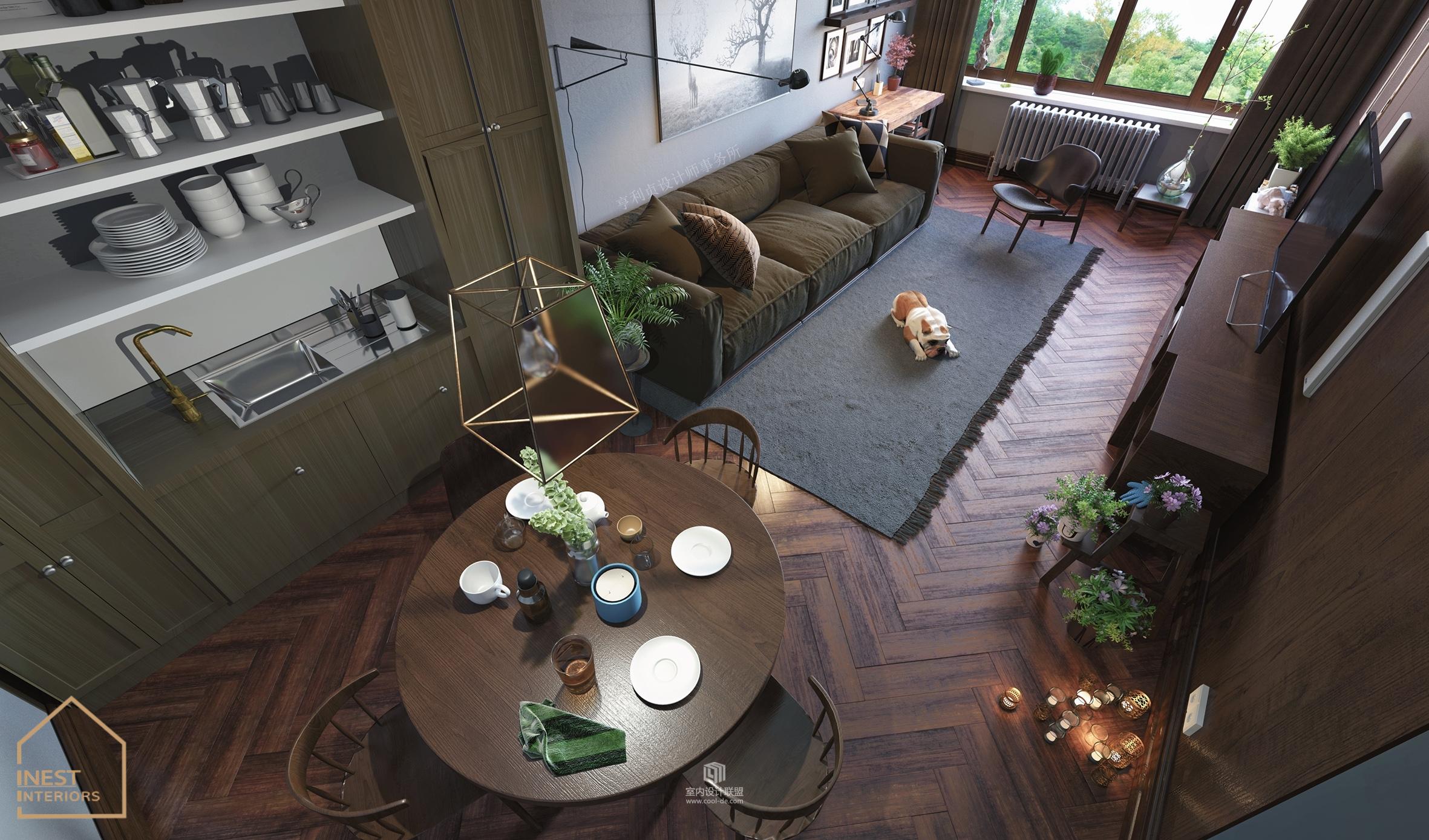 Thiết kế nội thất chung cư 60m2 phòng khách