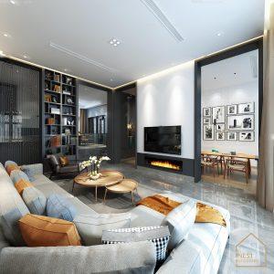 Thiết kế căn hộ 3 phòng ngủ theo phong cách hiện đại sang trọng