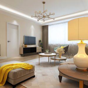 Đơn giản trong phong cách thiết kế cho nội thất chung cư cao cấp