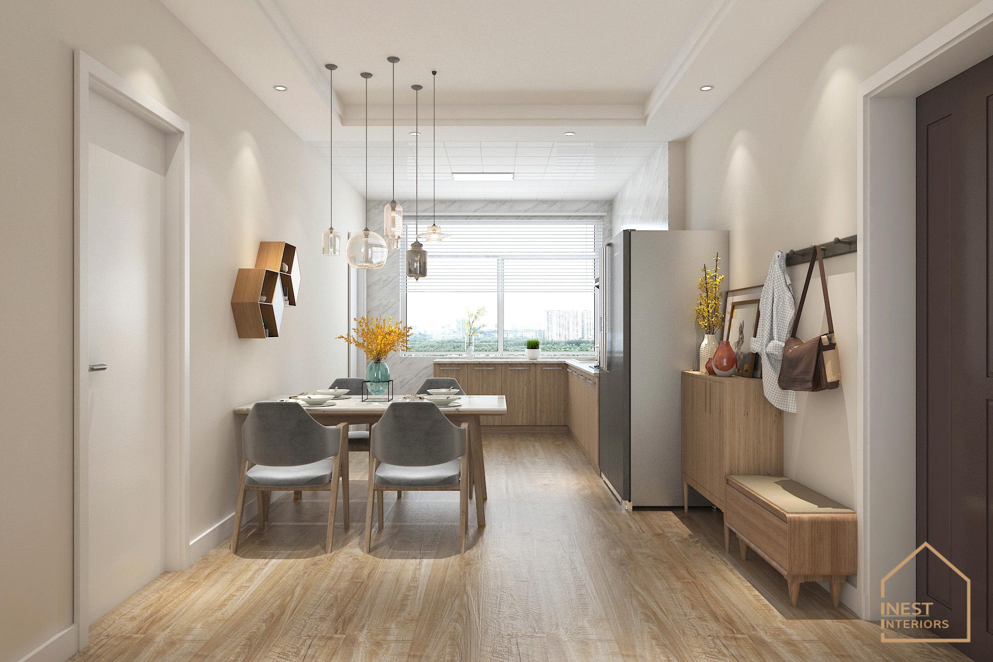 Phòng ăn và phòng bếp được thiết kế