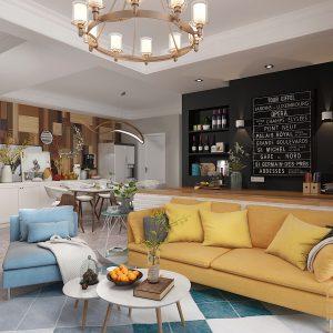 Phong cách Bắc Âu cho căn hộ chung cư 3 phòng ngủ thêm đẳng cấp