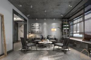 Thiết kế căn hộ 2 phòng ngủ theo phong cách Gỗ Công nghiệp đầy cá tính