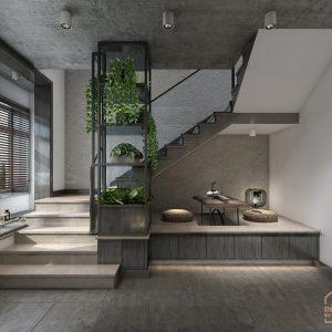 Cầu thang được thiết kế tối giản