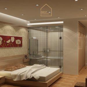 Phòng ngủ màu sắc nhẹ nhàng