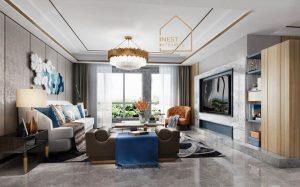 mở rộng không gian phòng khách