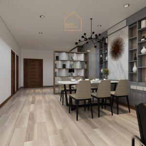 Thiết kế nội thất căn hộ 2 phòng ngủ chung cư Ngoại Giao Đoàn - Phòng ăn