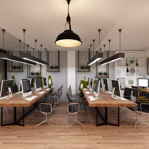 thiết kế nội thất nhà phố văn phòng
