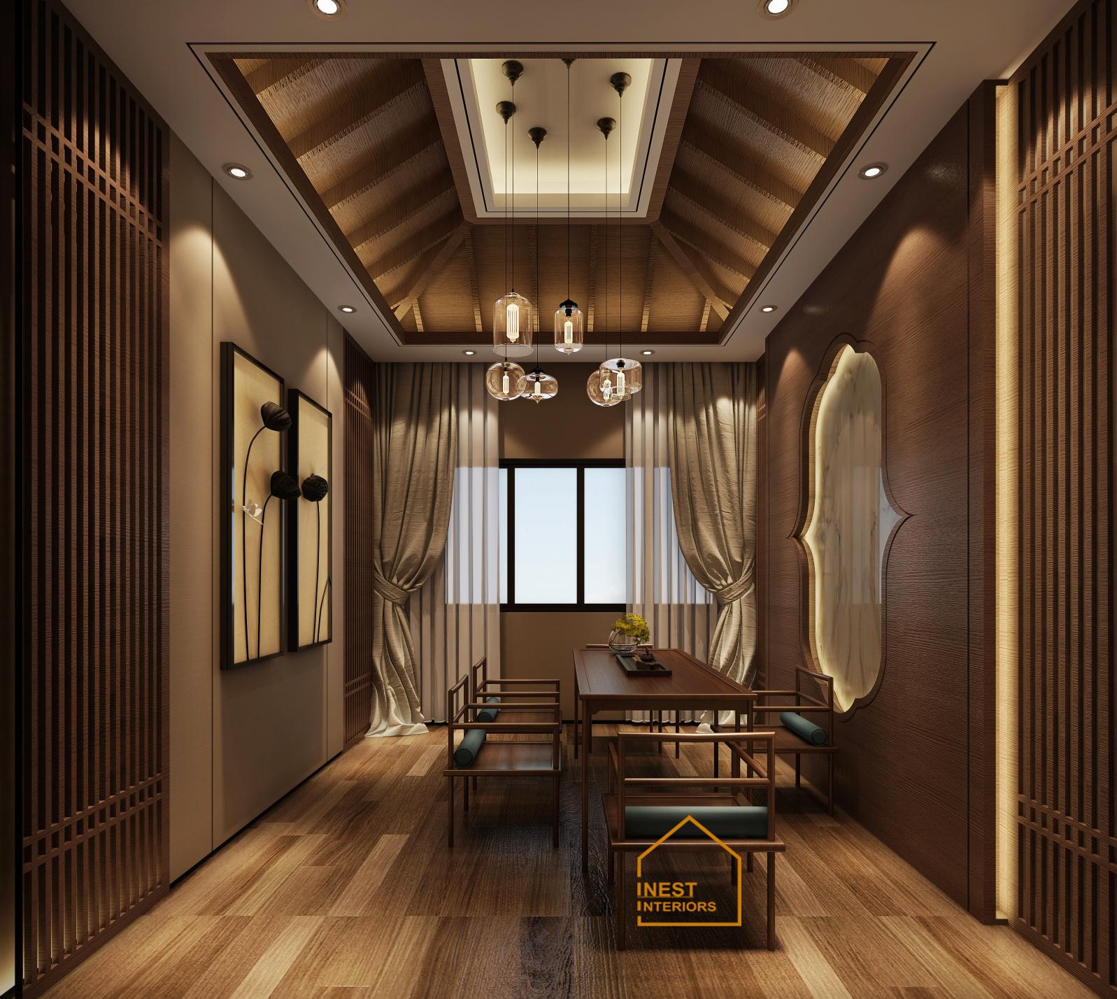 Thiết kế biệt thự Thái Bình phong cách Á Đông