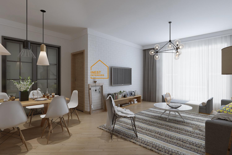 Thiết kế nội thất căn hộ chung cư Sunshines garden
